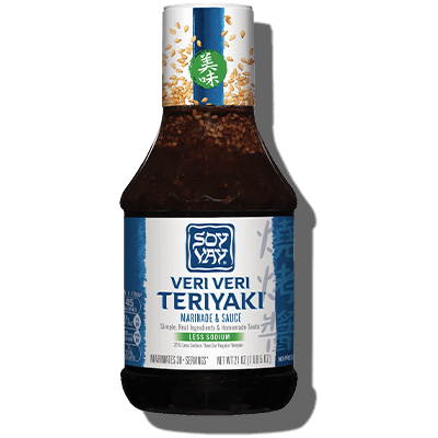 Less Sodium Veri Veri Teriyaki® Marinade & Sauce - Click for More Information